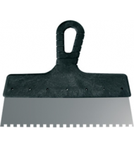 Шпатель зубчатый, зуб 8 мм, стальное лезвие, пластиковая ручка 300 мм