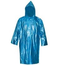 Плащ дождевик усиленный синий, полиэтилен, размер XXXL