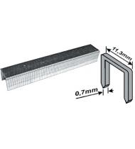 Скобы для степлера закаленные 11,3 мм х 0,7 мм, (узкие тип 53)  6 мм, 1000 шт.