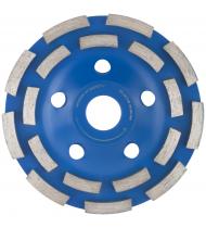 Диск алмазный шлифовальный, посадочный диаметр 22,2 мм, два ряда сегментов 125 мм