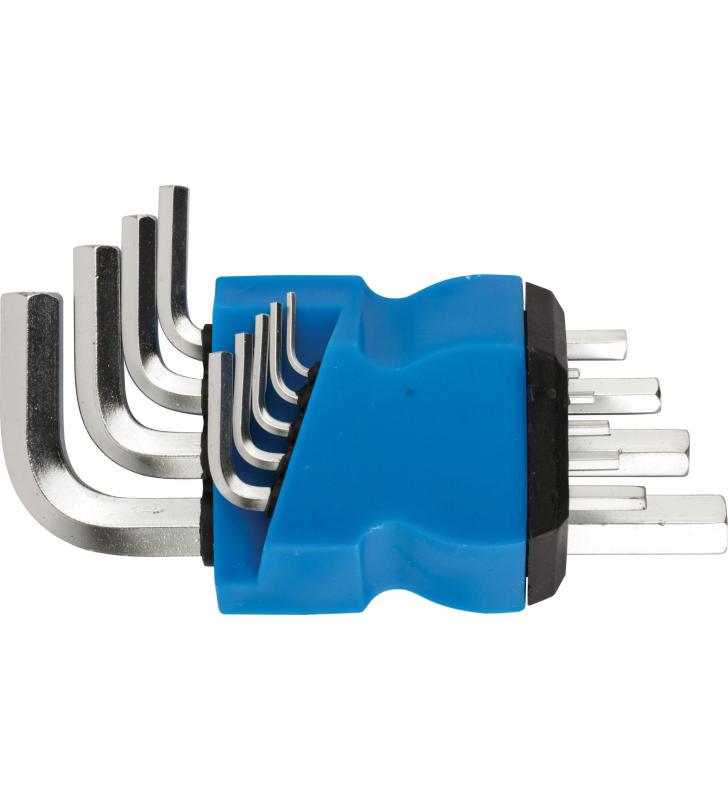 Ключи шестигранные, набор 9 шт. (1,5-10 мм ) в пластиковом держателе