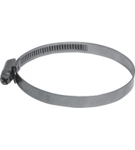 Хомут обжимной накатной (оцинкованная сталь)  8-12 мм