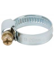 Хомут обжимной накатной (оцинкованная сталь) 13-26 мм