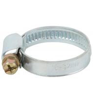 Хомут обжимной накатной (оцинкованная сталь) 16-32 мм