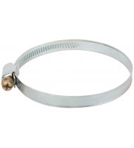 Хомут обжимной накатной (оцинкованная сталь) 60-80 мм