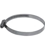 Хомут обжимной накатной (оцинкованная сталь) 70-90 мм