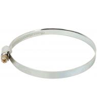 Хомут обжимной накатной (оцинкованная сталь) 80-100 мм