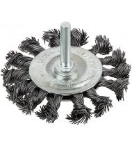 """Корщетка, тип """"колесо"""", со штифтом, стальная витая проволока  75 мм"""
