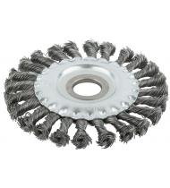 """Корщетка, тип """"колесо"""", посадочный диаметр 22,2 мм, стальная витая проволока 125 мм"""